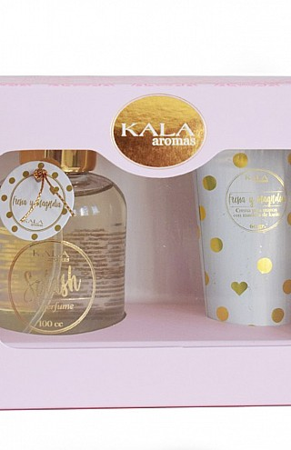Kit con Crema Para Manos Fresia & Magnolia + Body Splash x 100 ml.