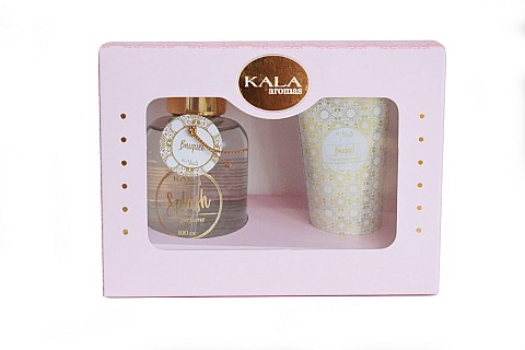 Set con crema para manos Bouquet + Body Splash x 100 ml.